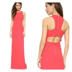 Elizabeth and James pink Freya gown